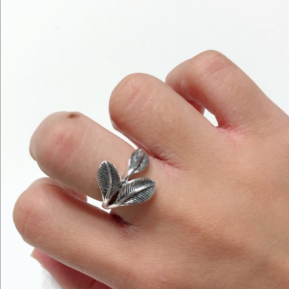 71741ae4cb Jewelry | 925 Sterling Silver Plain Leaf Ring | Poshmark
